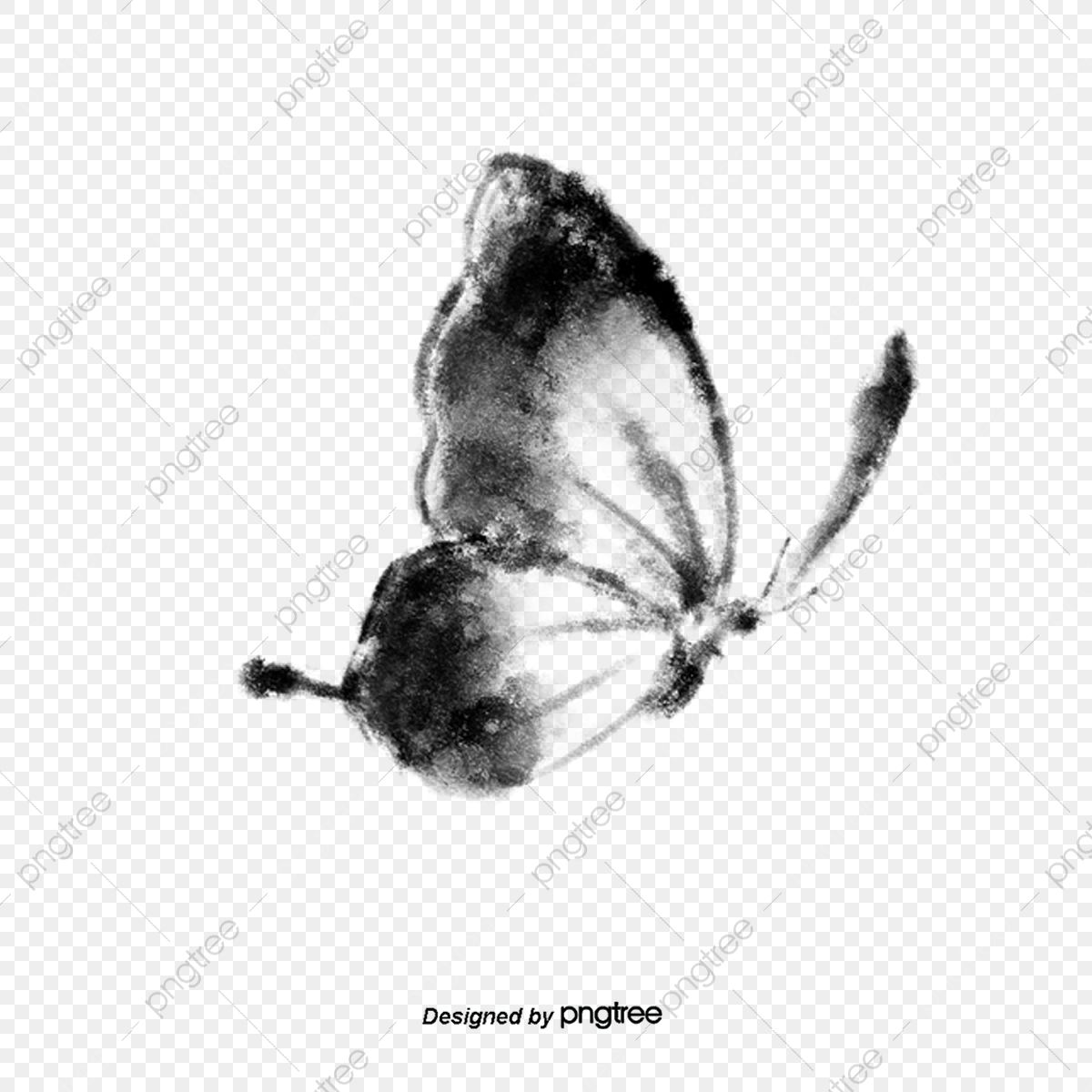 Side Flying Black And White Butterfly Elements In Ink Butterfly Clipart Flying Clipart Wings Png Transparent Clipart Image And Psd File For Free Download Butterfly Clip Art White Butterfly Clip Art