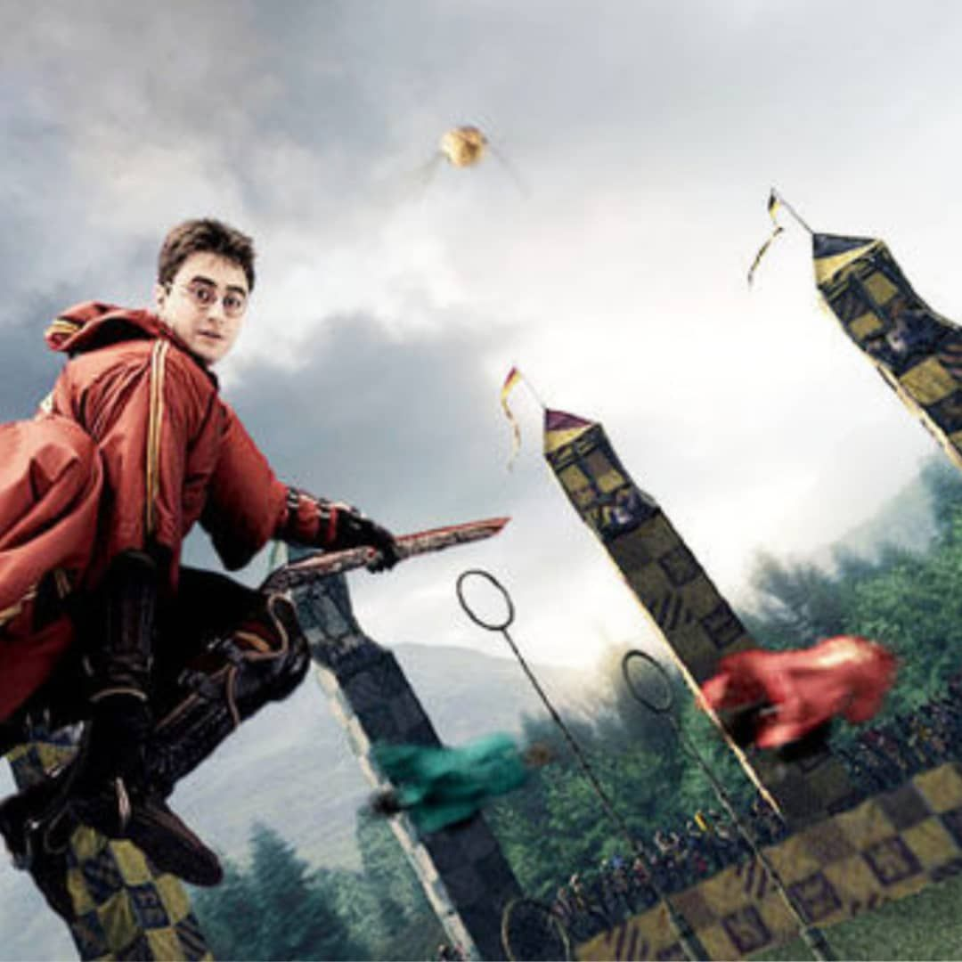 Image may contain 1 person, sky and outdoor Quidditch
