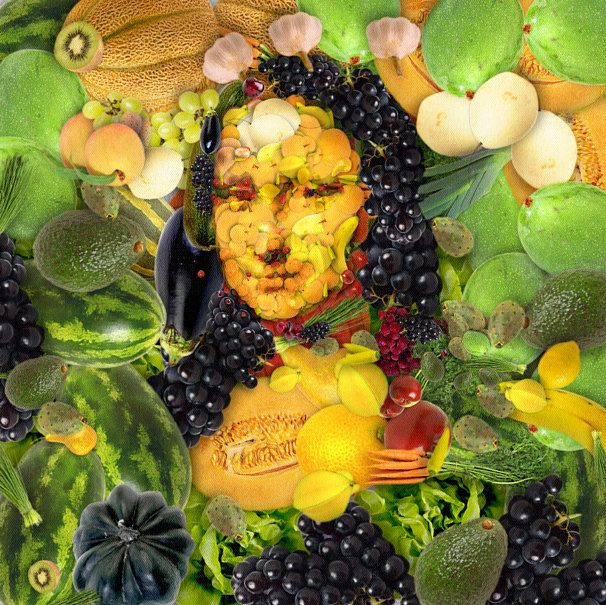 arcimboldo style vegetable mona lisa amazing fruits and. Black Bedroom Furniture Sets. Home Design Ideas