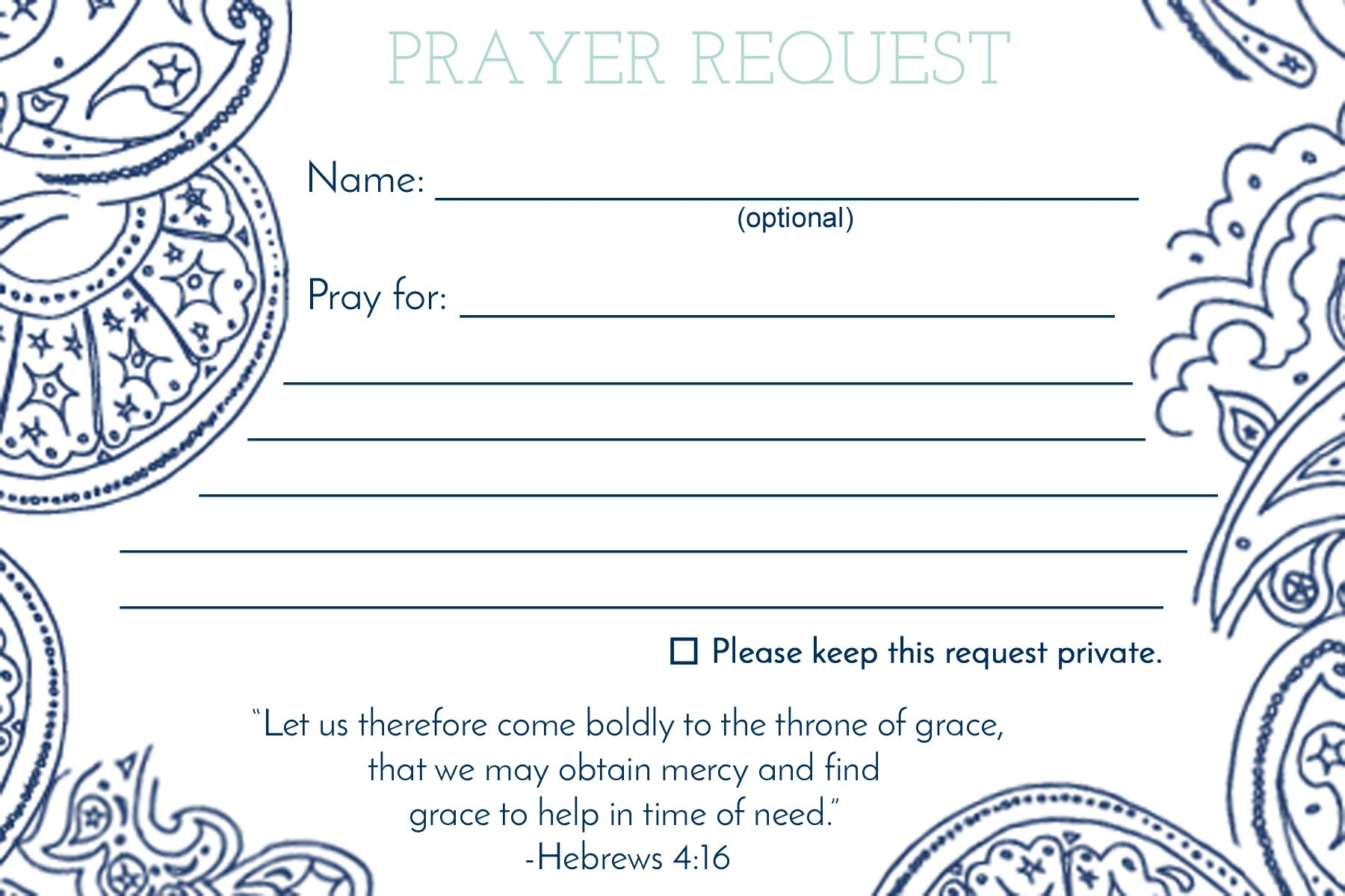 Prayer Request Card Mops Leaders Prayer Request Prayers