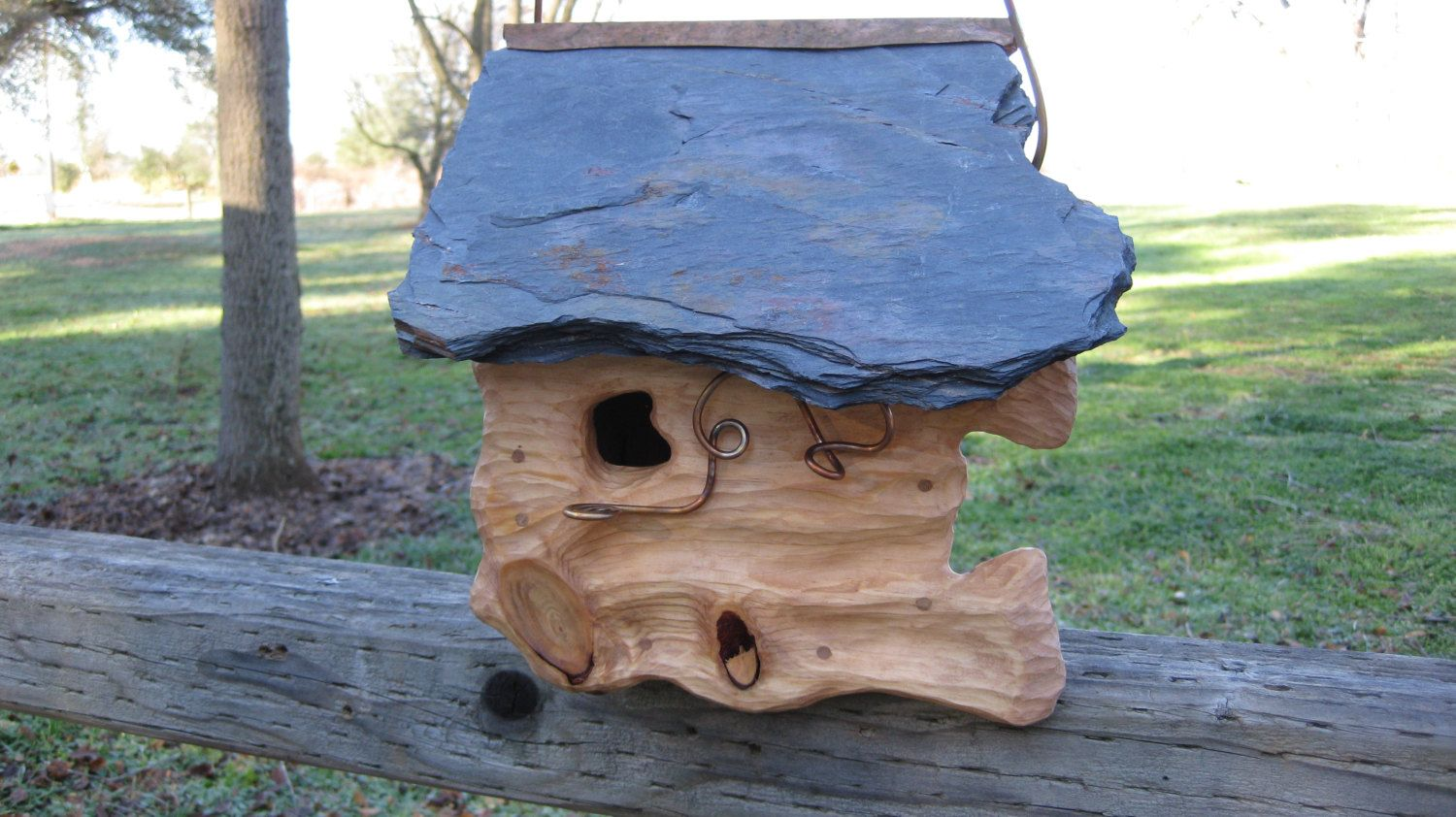 Pin By Elizabeth Hoskins On Birdhouses By Copperwood Stone Bird Houses Birdhouses Rustic Bird House