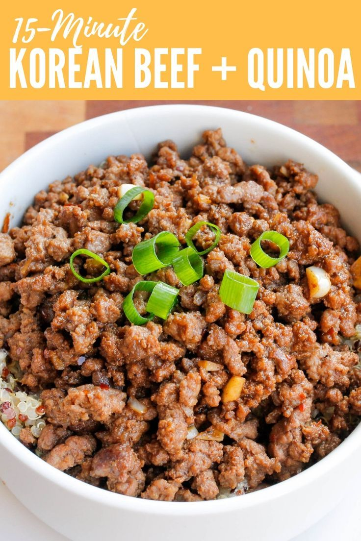 15-Minute Korean Beef and Quinoa Bowl images