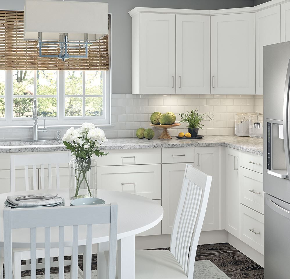 Cambridge Base Cabinets in White – Kitchen – The Home Depot ...