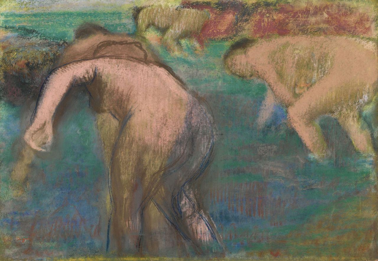 Femmes au bain (ca. 1890-95) - Edgar Degas