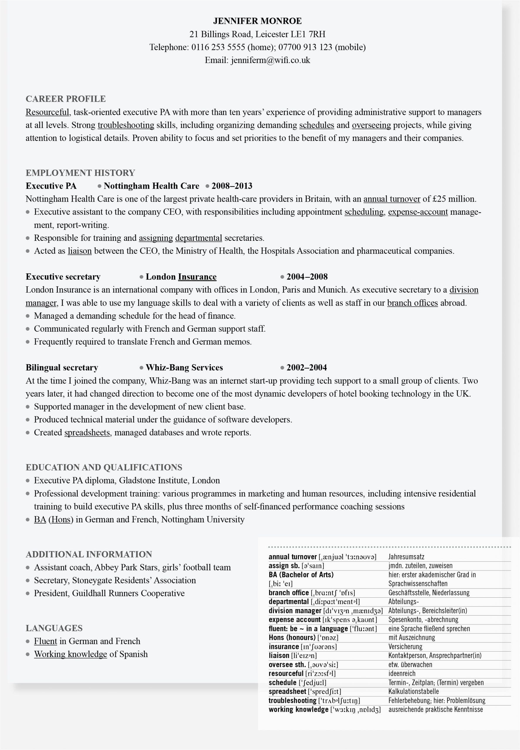 Englisch Lebenslauf Vorlagen In 2020 Lebenslauf Auf Englisch Lebenslauf Lebenslauf Tipps