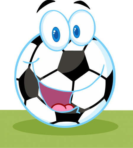 شعار كرة قدم مرسوم عليها وجه مضحك مجاني ملف مفتوح