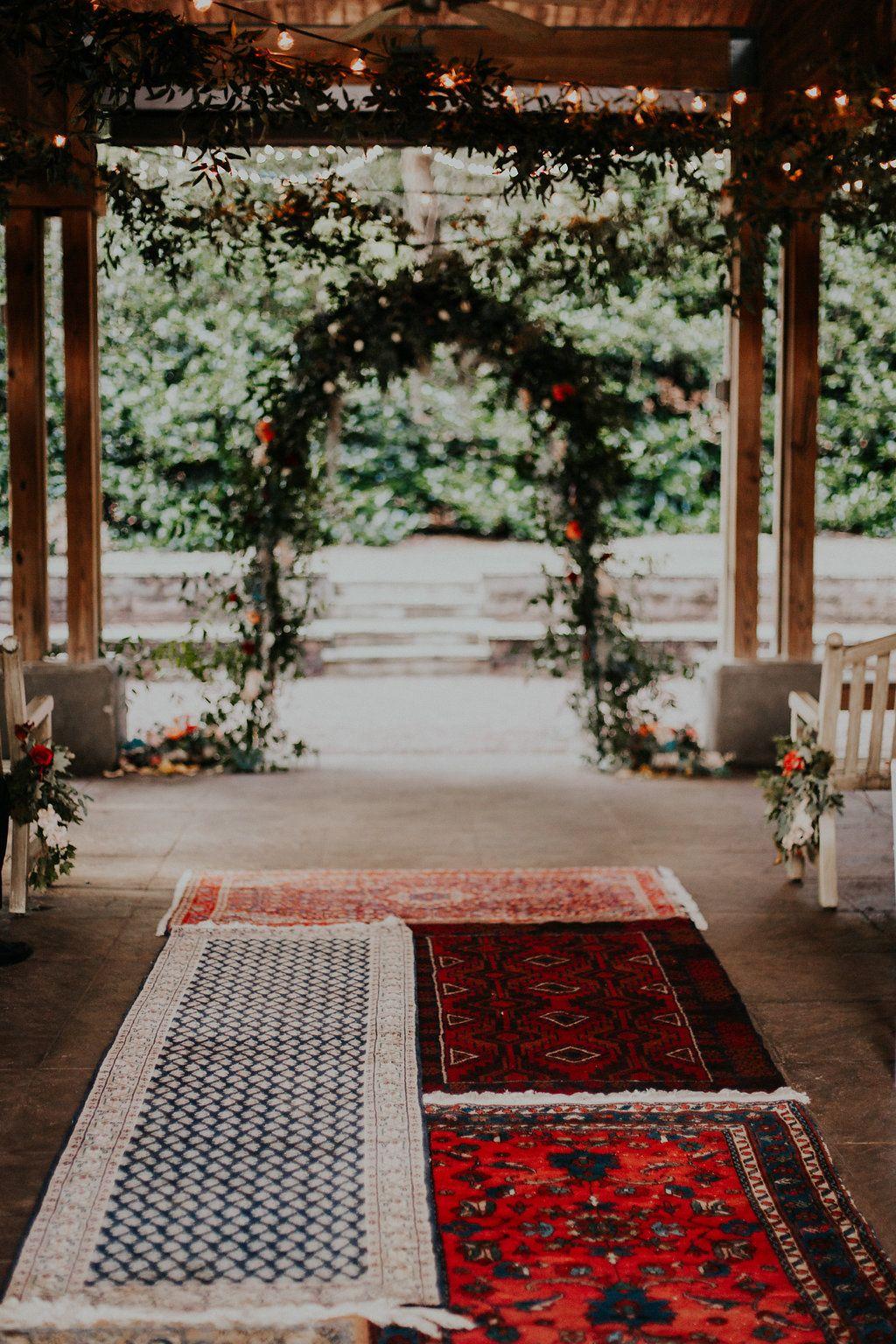 Outdoor garden rustic boho wedding in Birmingham, Alabama ...