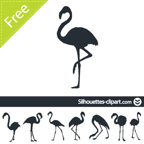 silhouette vector flamingo | Silhouettes | Pinterest ...