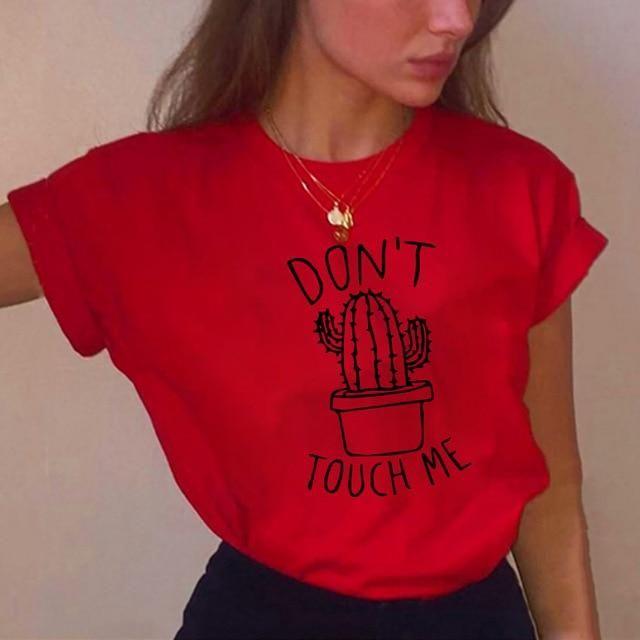 Camisetas de cuello redondo – rojo cactus / XL  – Moda