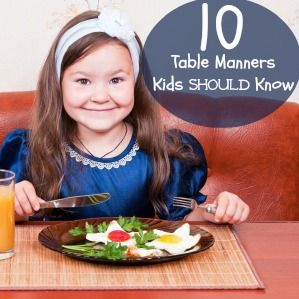 Table manners for kids printable parts of raising for 10 good table manners