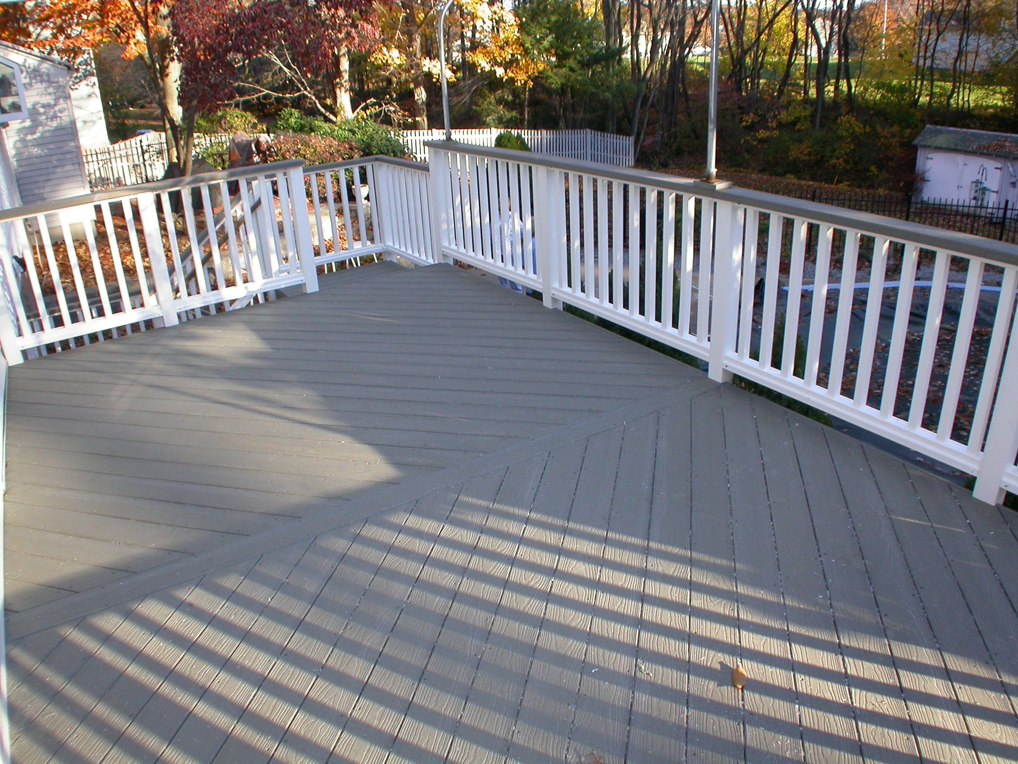 Brown Deck Stain With Grey House Google Search Outside
