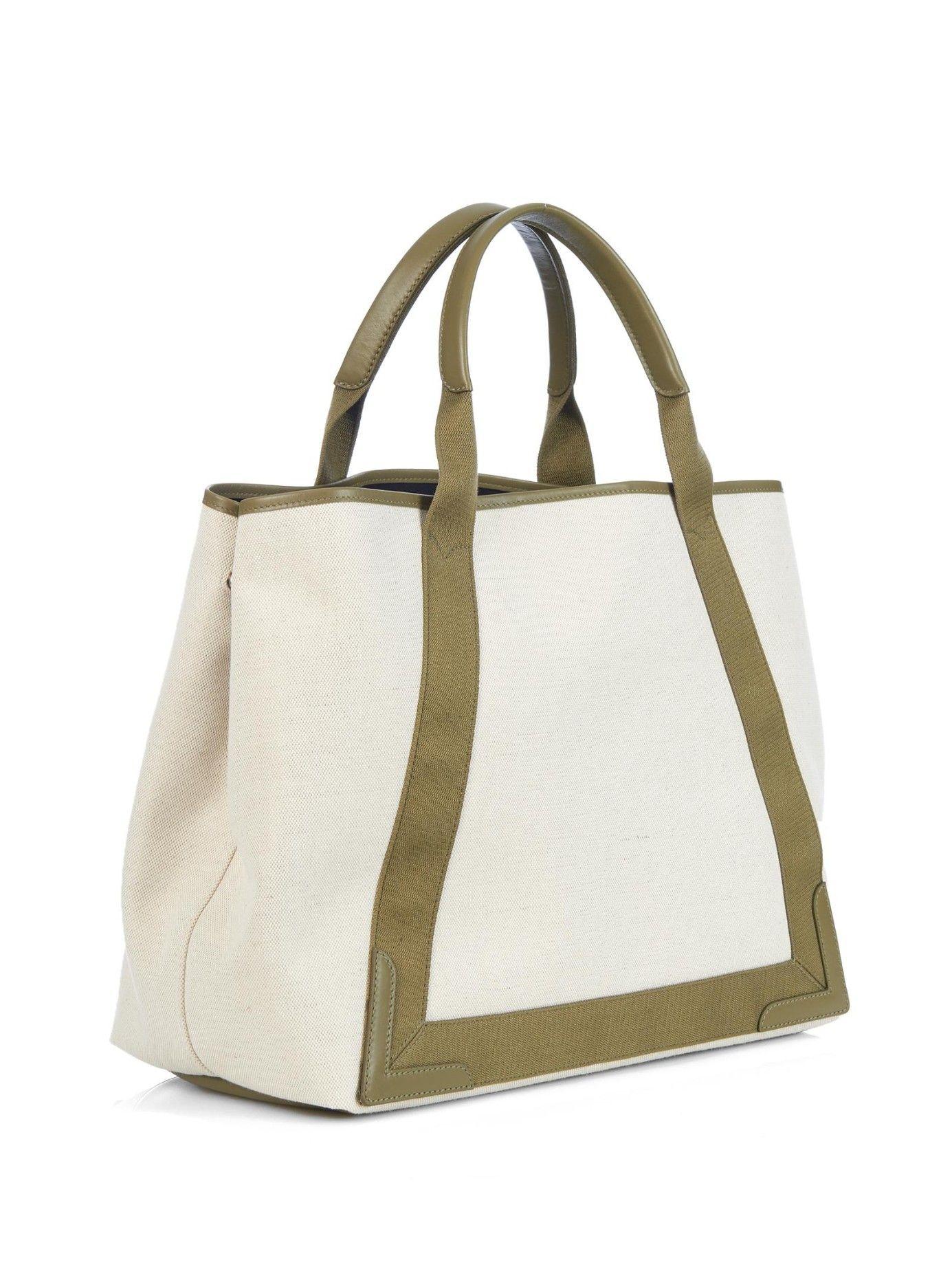 61f8b11bb Navy Cabas M cotton-canvas shopper | Balenciaga | MATCHESFASHION.COM ...