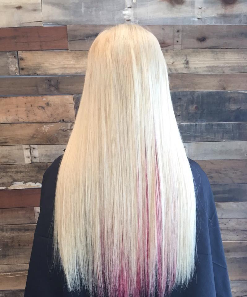 A Beautiful Set Of Creamy Blonde Baby Pink Micro Bead Hair
