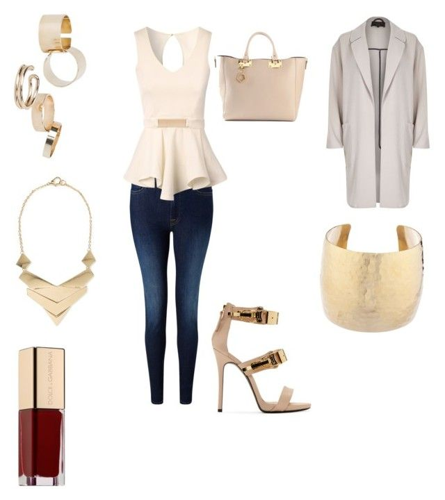 """""""Untitled #34"""" by chesterfrench ❤ liked on Polyvore featuring 7 For All Mankind, River Island, Jane Norman, Giuseppe Zanotti, Sophie Hulme, MANGO and Dolce&Gabbana"""