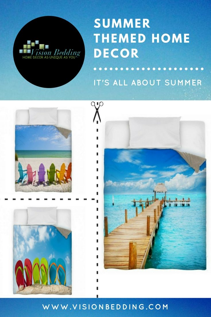 Cool Summer Themed Bedding!! | bedroom ideas | | bedroom decor | | bedroom | #bedroom #bedroomdecor #Summerthemedhomedecorbedding #Summerthemedhomedecorcomforters #Summerthemedhomedecorduvetcovers  https://www.visionbedding.com/