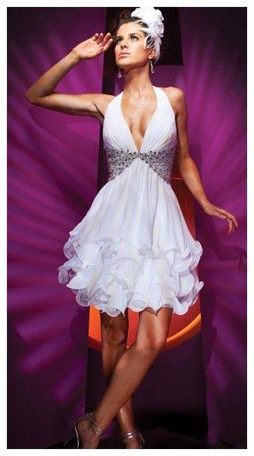 bf99a69ab Vestidos catorceveinte.com: Vestido de noche, escote halter, silueta línea A
