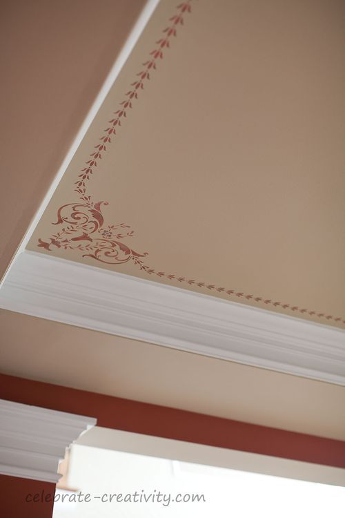 How To Add A Stencil To A Ceiling Ceiling Decor Indian Home