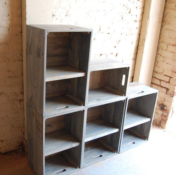 Wooden Crates/ Modern Book Shelf/ Wall Unit/ Bookcase/ Classic Gray/ Shelving & Wooden Crates/ Modern Book Shelf/ Wall Unit/ Bookcase/ Classic Gray ...