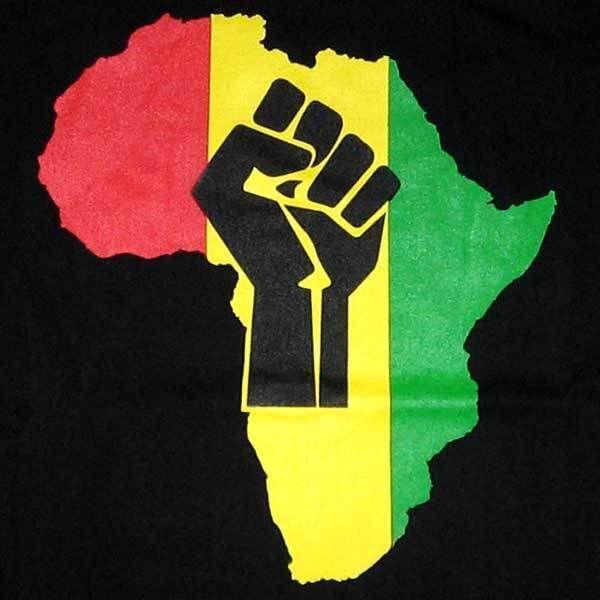 Africa Black Power Fist Rasta Rastafari Embroidered Iron On
