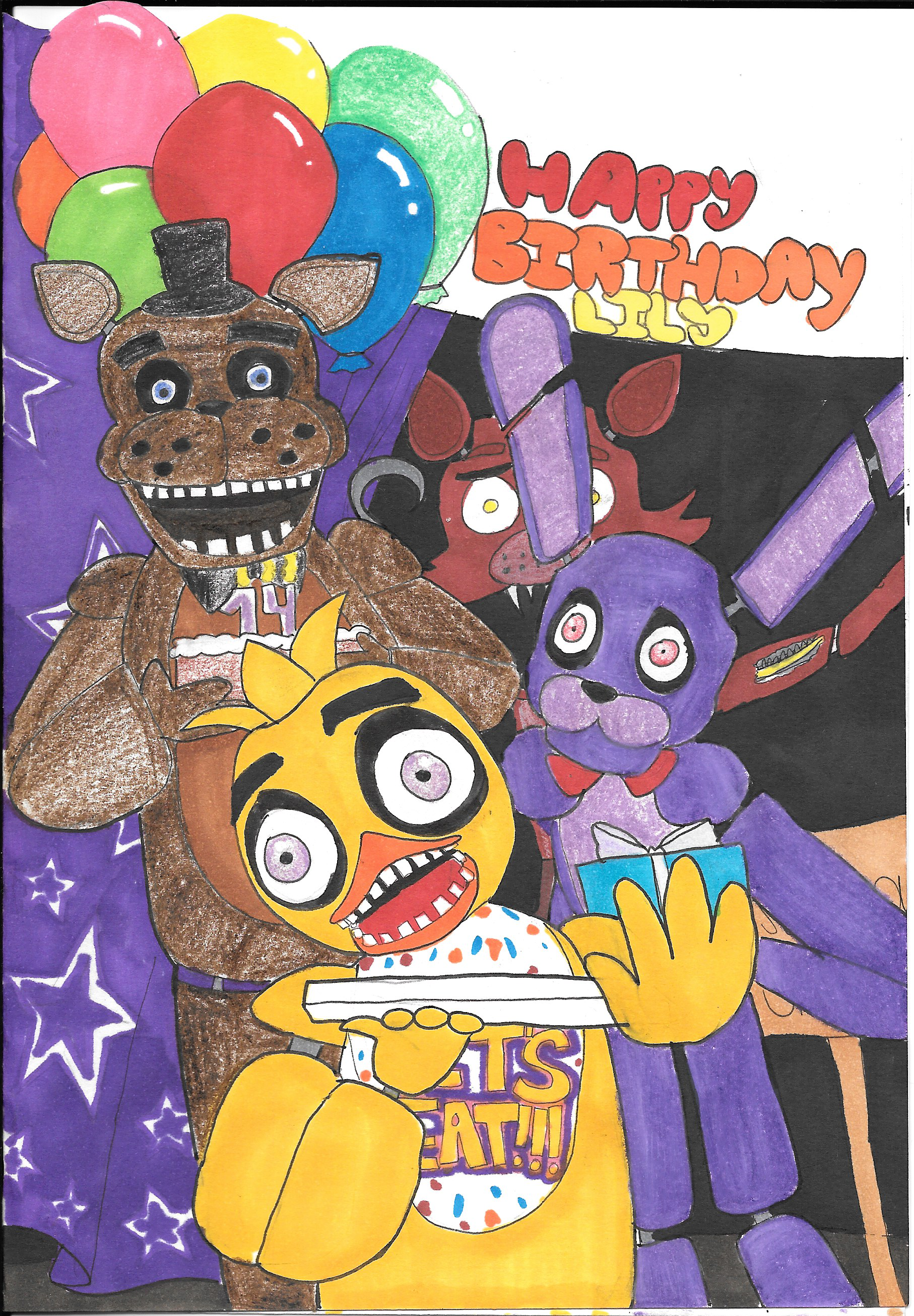Five Nights At Freddys Birthday Card Something New – M and S Birthday Cards