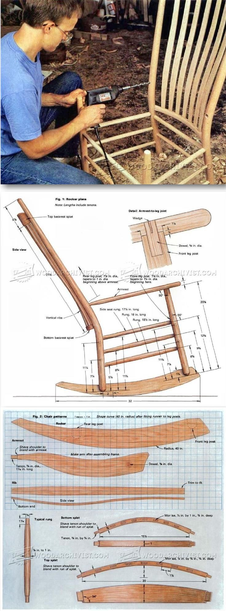 Build Rocking Chair - Furniture Plans and Projects   WoodArchivist.com