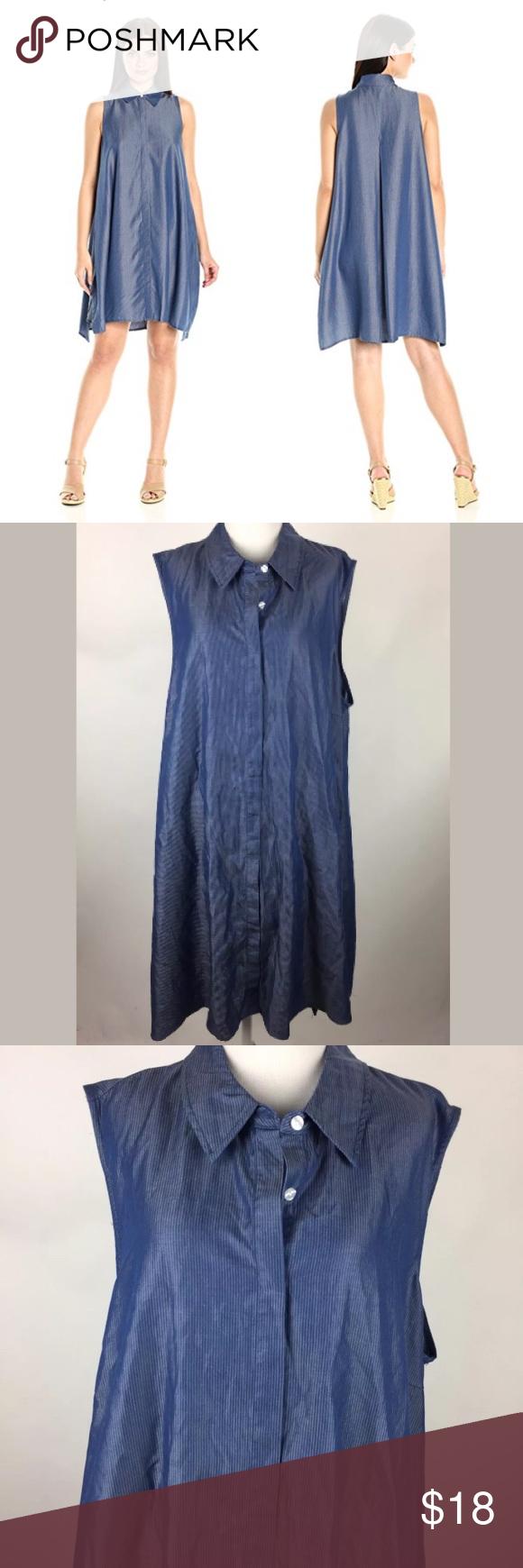 Sharagano Womens Denim Shirt Dress Bcd Tofu House