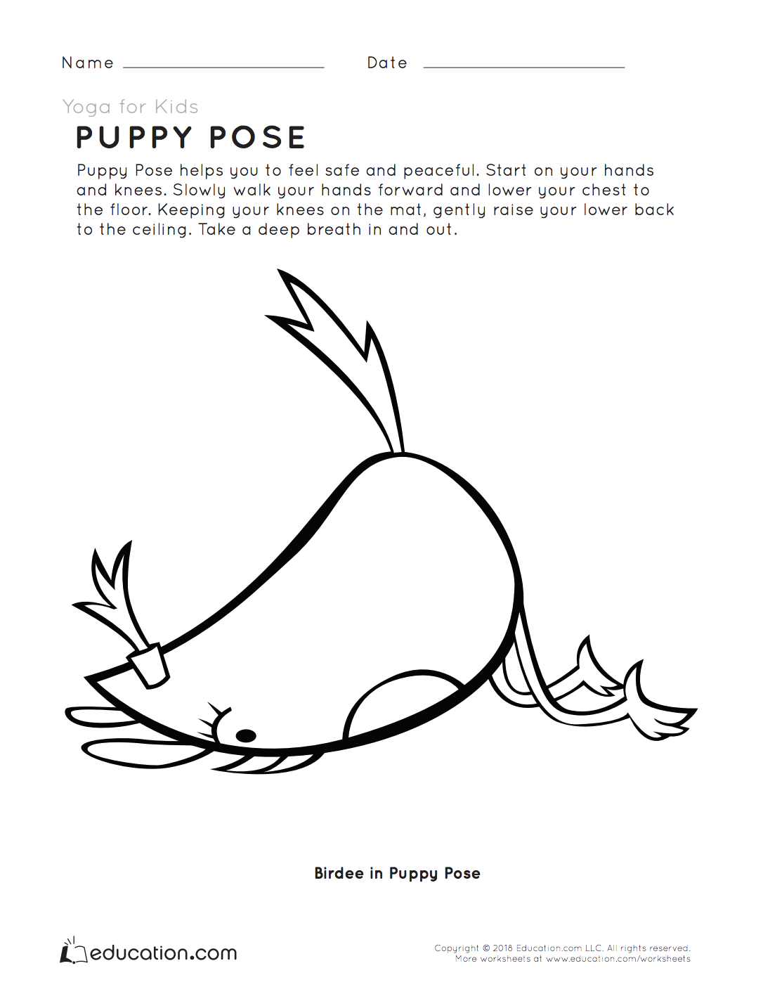 Yoga For Kids Puppy Pose