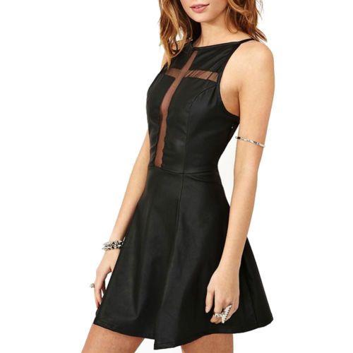 Vestito donna nero vestitino skater abito godè abitino svasato party ... 4f7c81aaad5