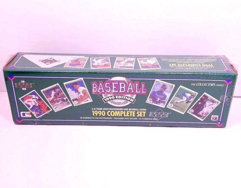 1990 Upper Deck Complete Mlb Baseball Cards Collectible