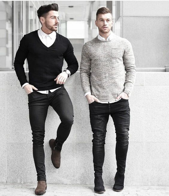 Business Casual What To Wear With Mens Clothing Black Jeans Outfits Styles
