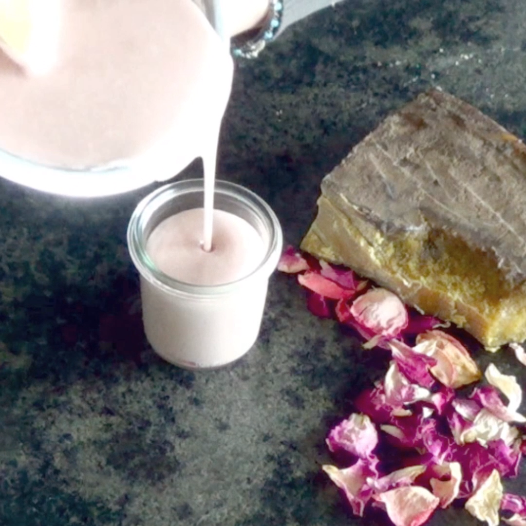 Natural homemade rose cream