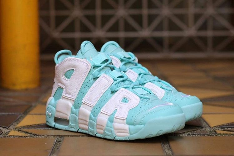 Nike Air More Uptempo Gs Tiffany Sneakers Women's Basketball Shoes Green  White