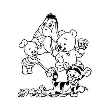 7 Walt Disney Winnie The Pooh And Friends Coloring Pages Baby