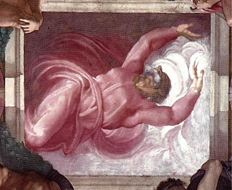 La Separación De La Luz Y Las Tinieblas Arte Religioso Capilla Sixtina Miguel Angel Buonarroti