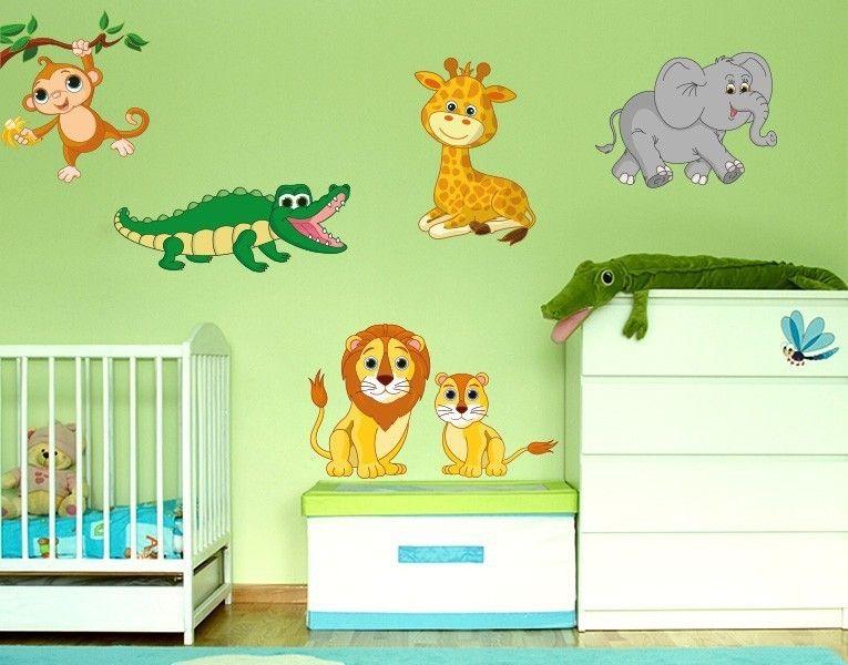Kinderzimmer wandgestaltung tiere  Wandsticker Safari Tiere | Safari-tiere, Wandtattoos kinderzimmer ...