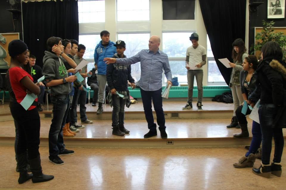 #MichaelKelly leads a #Romeo and #Juliet #Workshop with #ESL #students from #CentralCommerceCollegiate in #Toronto! #Shakespeare #Education #Classroom #Youth #Teens #Kids #School #Literacy