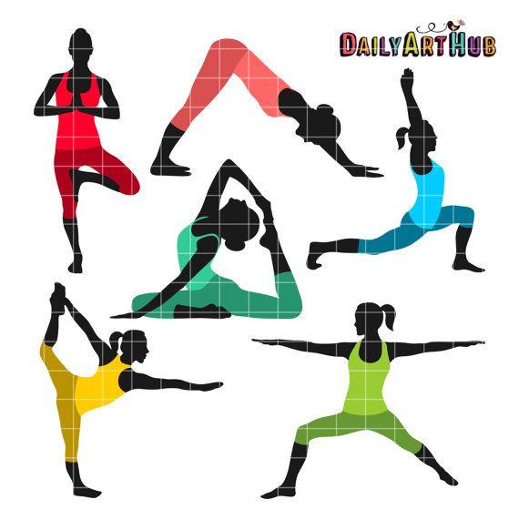 yoga poses clip art exercise clipart yoga moves by dailyarthub rh pinterest com clipart exercise pictures clipart exercise pictures