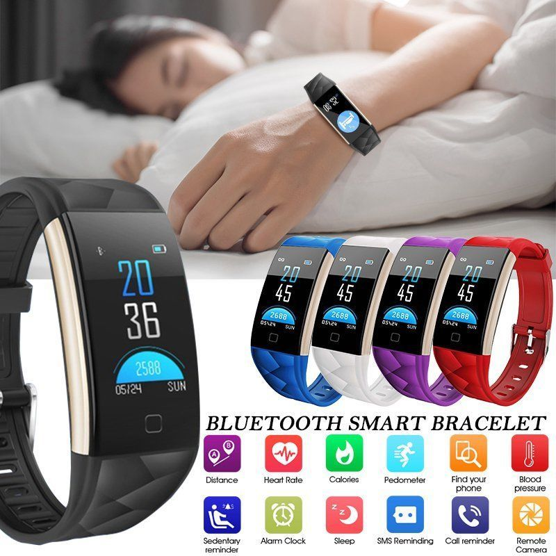 T20 color screen smart bracelet waterproof alarm heart rate blood monitor camera