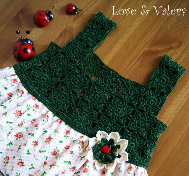 Vestido para nina con canesu tejido a crochet08 for Agarraderas para ninos