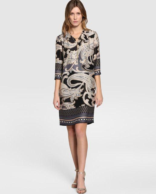 f4c9623b0 Vestido de mujer Antea estampado con colgante · Antea · Moda · El ...