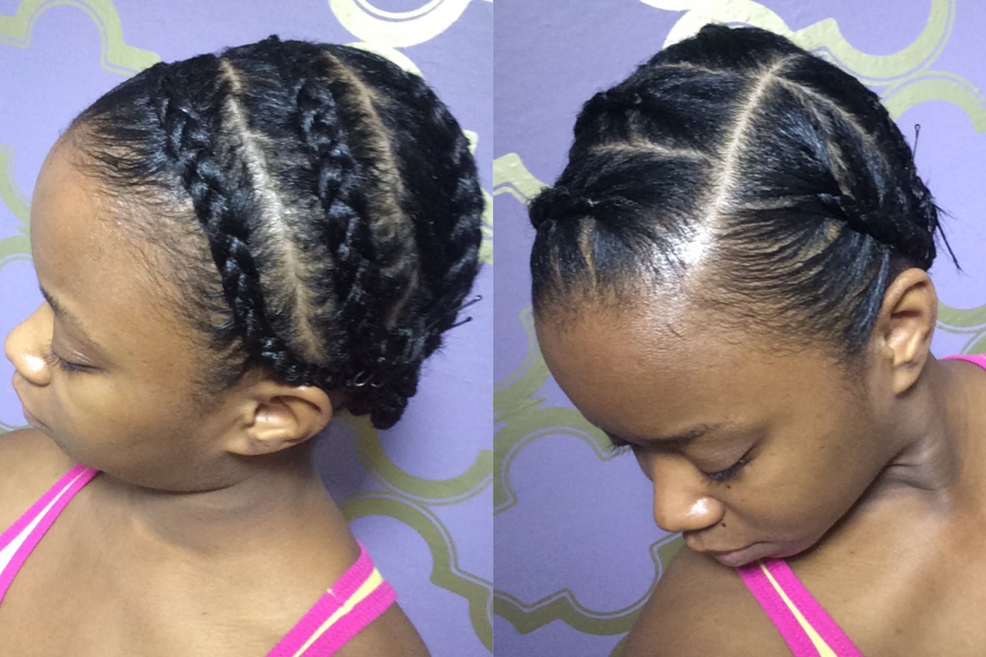 Braid Pattern Under Wigs I Always Get The Same Braid Pattern The Fuzzy Front Twist Is For Blending My Hair Into In 2020 Braid Patterns Hair Hairstyles For Thin Hair