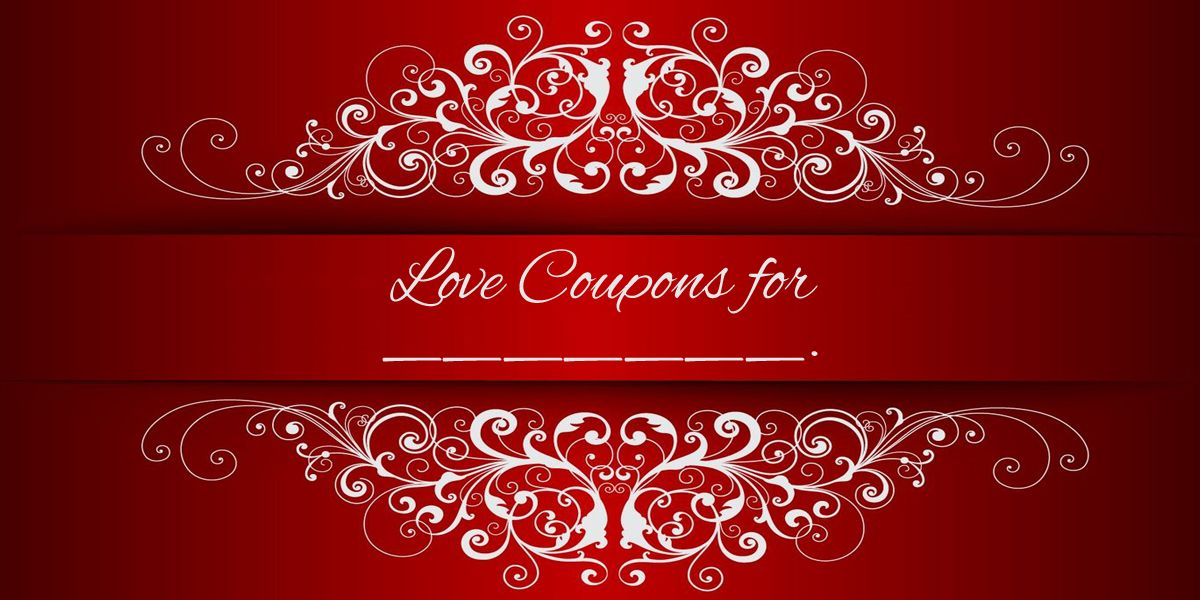 Fancy love coupons love coupons