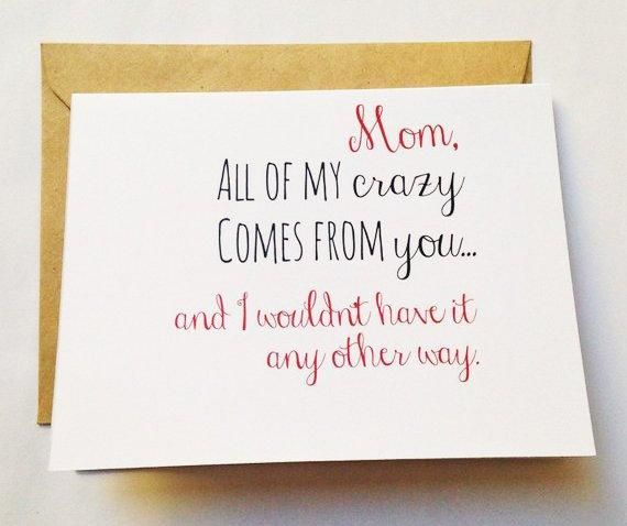 Crazy Mom Card