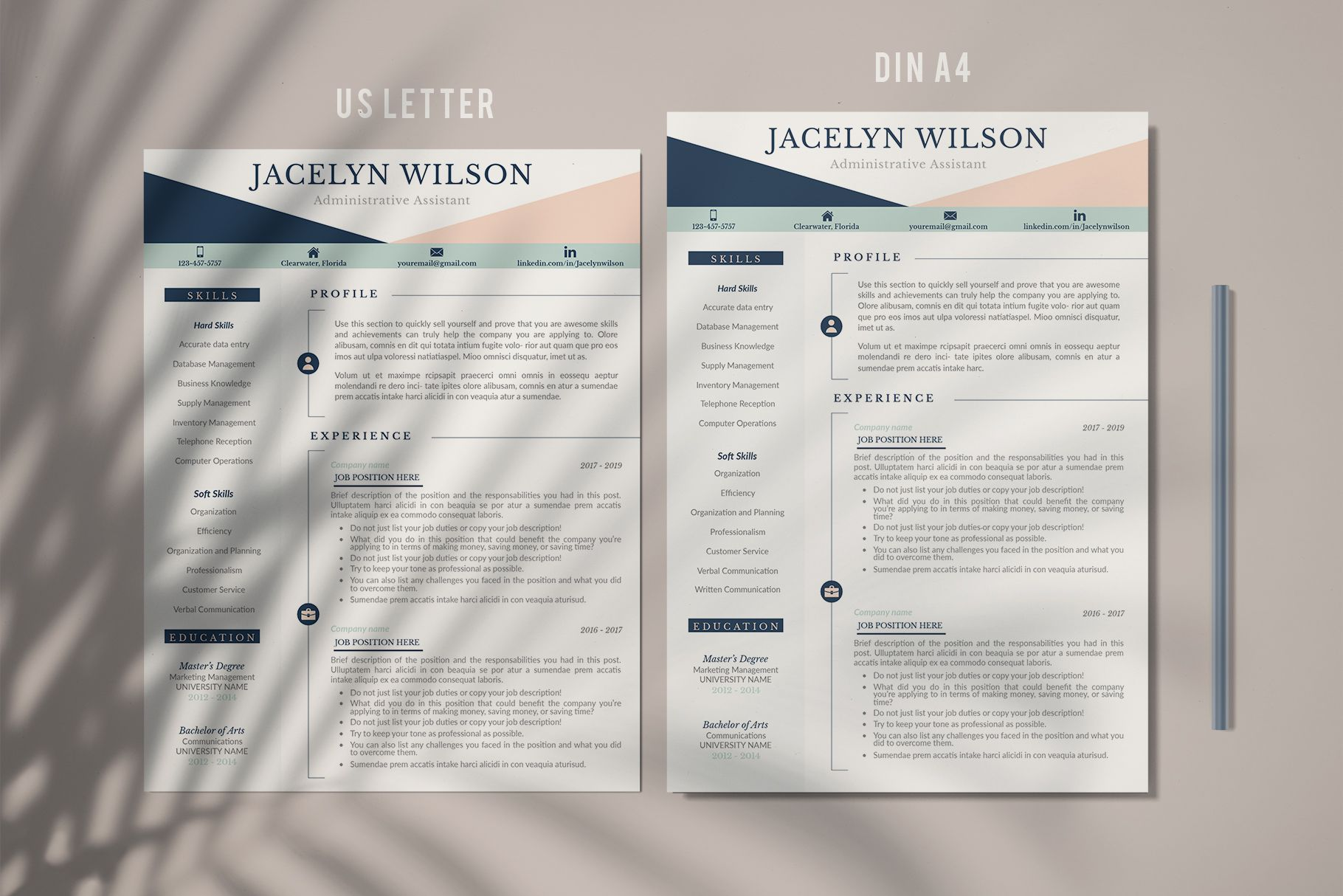 R50 JACELYN WILSON Creative Resume format for Freshers