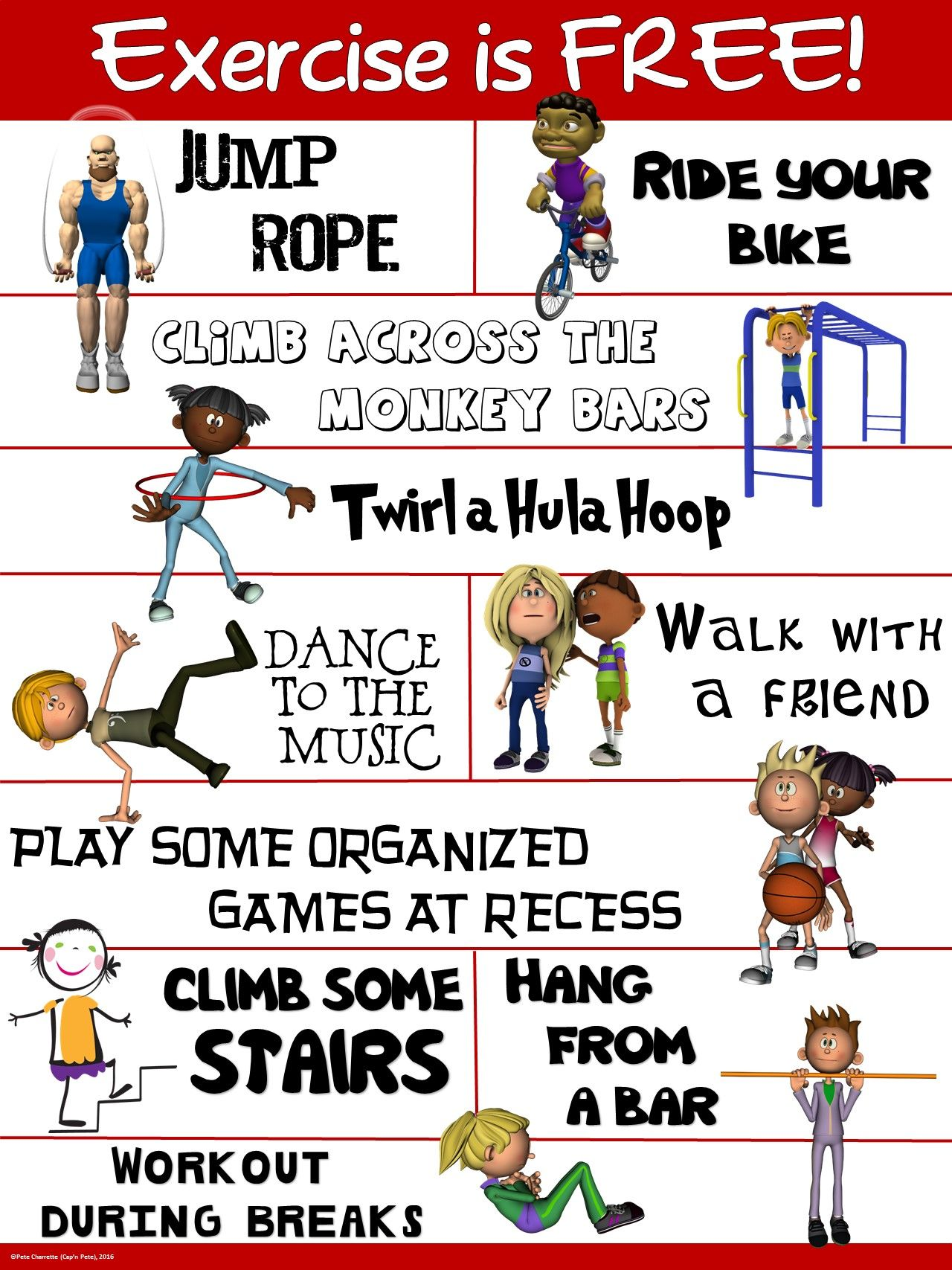 Pe Poster Exercise Is Free