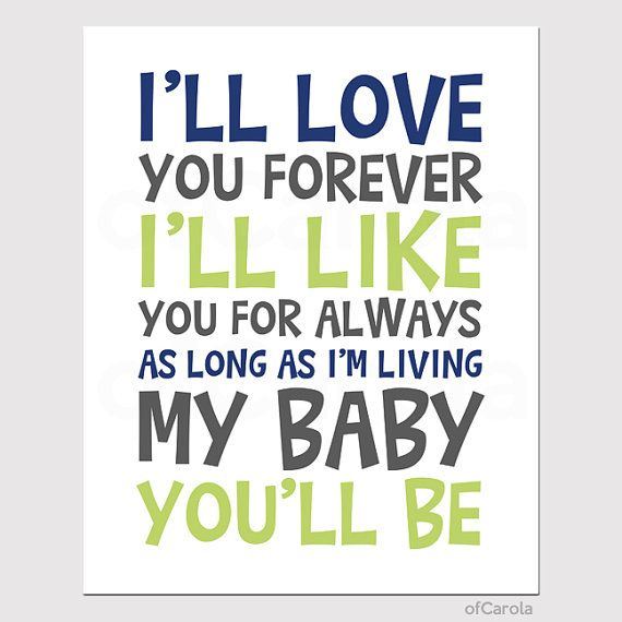 This Is Such A Special Book In Our Family! Stars Baby Nursery Quote  PERSONALIZED Wall Art Print   Iu0027ll Love You Forever ...