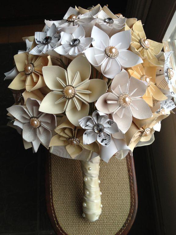 Paper Flower Bouquet Origami Kusudama 132 00 Via Etsy