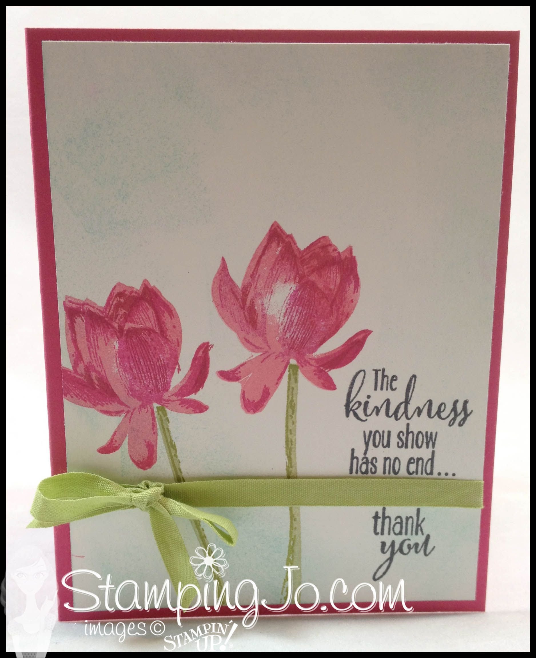 Lotus blossom quick easy card with images hand