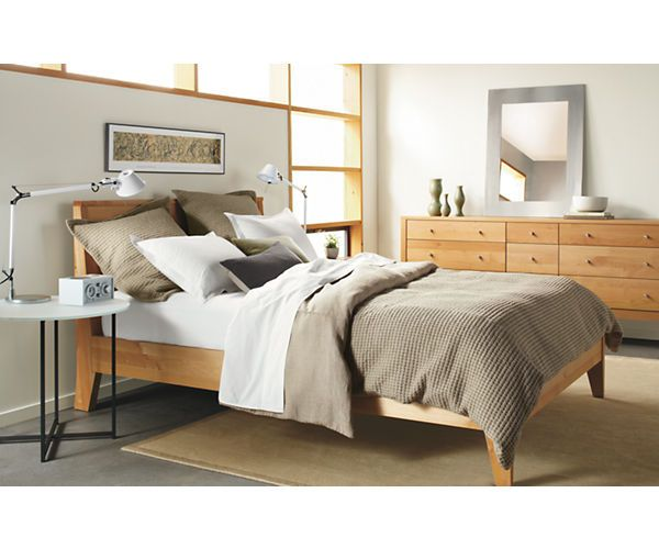 Calvin Wood Bed Modern Contemporary Beds