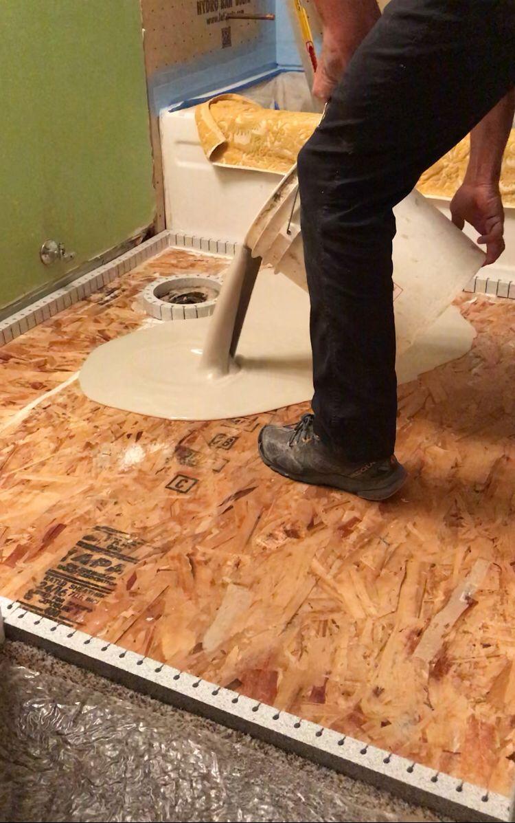 floor leveling over wood subfloor
